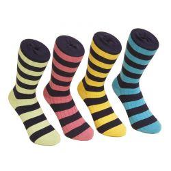 Calcetín de colores rayados
